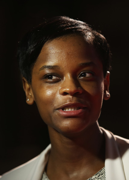 Letitia Wright Short Side Part [premiere of my brother the devil,face,hair,forehead,chin,eyebrow,head,nose,cheek,lip,close-up,letitia wright,odeon west end,london,england,bfi london film festival: my brother the devil]