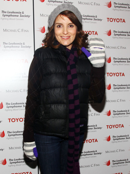 More Pics of Tina Fey Crocheted Beret (1 of 26) - Crocheted Beret Lookbook - StyleBistro