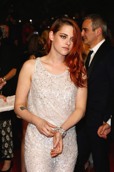 Kristen Stewart showed off a stunning diamond bracelet at the Cannes Film Festival premiere of 'Clouds of Sils Maria.'