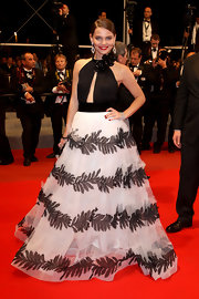 Elizaveta showed of her stunning evening gown while at the Cannes Film Festival.