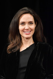 Angelina Jolie attended the 'Light After Darkness: Memory, Resilience and Renewal in Cambodia' discussion wearing this bouffant-ish hairstyle.