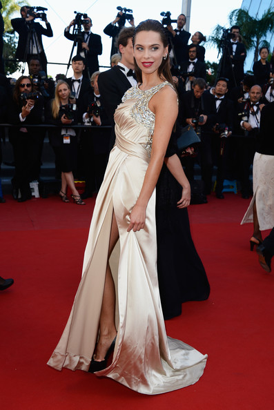 Liliana Matthaeus Evening Dress [red carpet,dress,gown,carpet,fashion model,clothing,shoulder,premiere,flooring,hairstyle,cannes,france,zulu premiere and closing ceremony,cannes film festival,zulu premiere and closing ceremony,palais des festivals,liliana matthaeus]