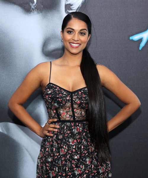 Lilly Singh Ponytail [clothing,dress,fashion model,hairstyle,beauty,cocktail dress,fashion,long hair,photo shoot,black hair,arrivals,youtuber lilly singh,atomic blonde,the theatre,los angeles,california,ace hotel,focus features,premiere,premiere]
