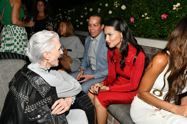 More Pics of Maye Musk Pumps (1 of 8) - Heels Lookbook - StyleBistro [event,lady,fashion,party,fun,leisure,adriana lima,maye musk,lily aldridge,chat,the bowery terrace,new york city,bowery hotel,lily aldridge parfums launch event,launch event]