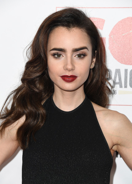 Lily Collins Retro Hairstyle