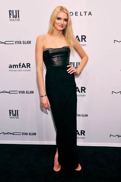 Lily Donaldson Leather Dress