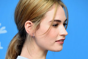 Lily James Loose Ponytail