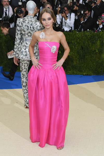Lily-Rose Depp Strapless Dress