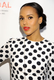 Kerry Washington swept her hair back into a voluminous bun for the Limited Collection launch.