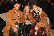 Paloma Elsesser was winter-chic in a camel-colored suede trench coat by Coach at the Lincoln Center Fashion Gala.