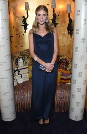 Donna Air opted for a wide-leg navy jumpsuit when she attended the Links of London anniversary event.
