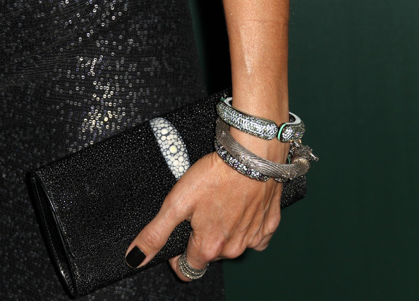 Lisa Edelstein Bangle Bracelet [fashion accessory,finger,jewellery,bracelet,nail,fashion,hand,wrist,ring,engagement ring,lisa edelstein,lacoste - arrivals,jewelry detail,hotel,california,beverly hills,the beverly hilton,sponsor,lacoste,13th annual costume designers guild awards]
