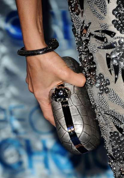 Lisa Edelstein Cuff Bracelet [blue,fashion,finger,footwear,nail,fashion accessory,hand,arm,joint,wrist,arrivals,lisa edelstein,peoples choice awards,fashion detail,los angeles,california,nokia theatre l.a. live]