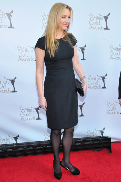 Lisa Kudrow Diamond Bracelet [red carpet,clothing,dress,carpet,red carpet,little black dress,footwear,shoulder,flooring,joint,premiere,lisa kudrow,hollywood palladium,los angeles,california,writers guild awards]