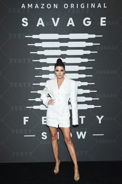 Lisa Rinna Strappy Sandals [savage x fenty show,fashion,standing,human,font,photography,style,video - arrivals,lisa rinna,brooklyn,new york,barclays center,amazon prime]