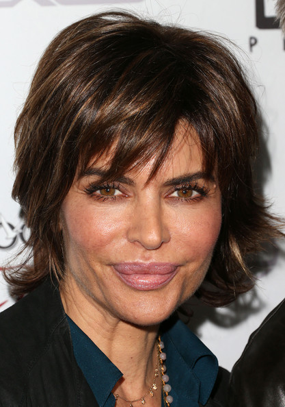 Lisa Rinna Layered Razor Cut [silver linings playbook,hair,face,hairstyle,eyebrow,chin,layered hair,bangs,brown hair,blond,forehead,arrivals,lisa rinna,beverly hills,california,the weinstein company,screening of the weinstein company,the academy of motion pictures arts and sciences,screening]