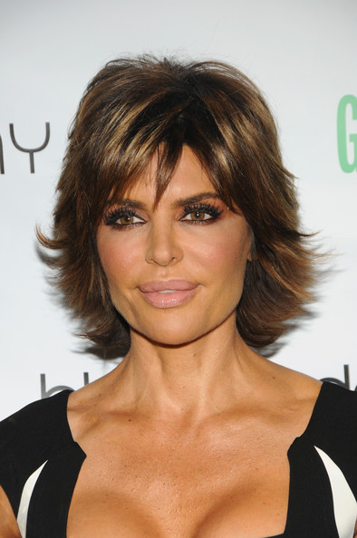 Lisa Rinna Layered Razor Cut [the fashionable mom show,strut: the fashionable mom show,hair,face,hairstyle,eyebrow,blond,chin,brown hair,bangs,shoulder,layered hair,lisa rinna,front row,lincoln center,new york city,the stage,mercedes-benz fashion week]