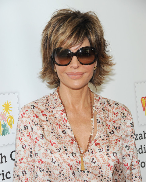 Lisa Rinna Layered Razor Cut [red carpet,eyewear,hair,glasses,hairstyle,sunglasses,vision care,lip,blond,bangs,cool,lisa rinna,culver city,california,elizabeth glaser pediatric aids foundation,smashbox studios,elizabeth glaser pediatric aids foundation 26th annual a time for heroes family festival]