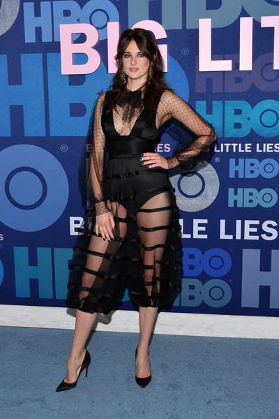 Shailene Woodley looked sensual in a sheer black dress by Dior Couture at the premiere of 'Big Little Lies' season 2.