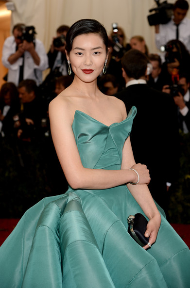Liu Wen Satin Clutch