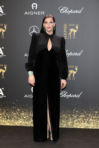 Liv Tyler Cutout Dress [clothing,formal wear,fashion,dress,carpet,red carpet,suit,abaya,flooring,tuxedo,liv tyler,bambi awards,70th bambi awards,stage theater,berlin,germany,red carpet arrivals]