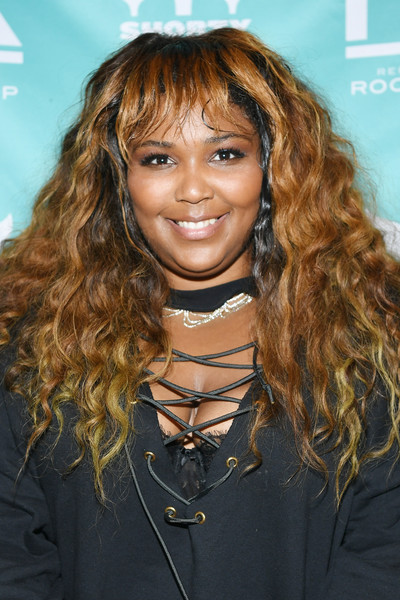 Lizzo Long Curls with Bangs