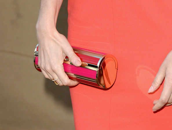 Lizzy Caplan Hard Case Clutch