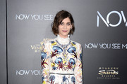 Lizzy Caplan Embroidered Dress