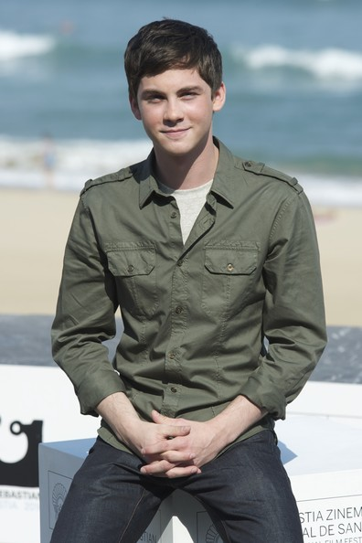 Logan Lerman Button Down Shirt