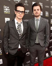 Brendon Urie's paisley-print ascot tie added a lot of flair to his suit at the NewNowNext Awards.