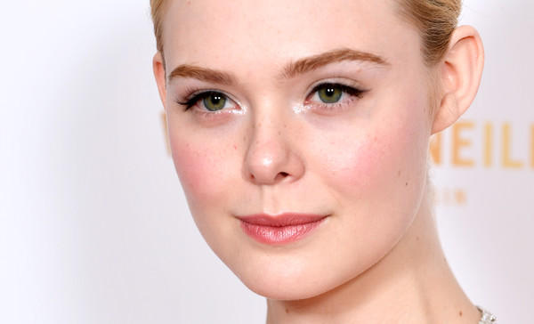 More Pics of Elle Fanning Evening Pumps (3 of 11) - Heels Lookbook - StyleBistro [face,hair,eyebrow,cheek,skin,lip,nose,chin,forehead,beauty,red carpet arrivals,elle fanning,london,england,the may fair hotel,london critics circle film awards,london critics circle film awards 2020,elle fanning,maleficent,photograph,actor,image,stock photography,model,face]