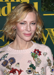 Cate Blanchett styled her hair into a wavy bob for the London Evening Standard Theatre Awards.