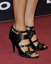 Susana's strappy sandals stole the show on the red carpet of the 'Lope' premiere in Madrid.