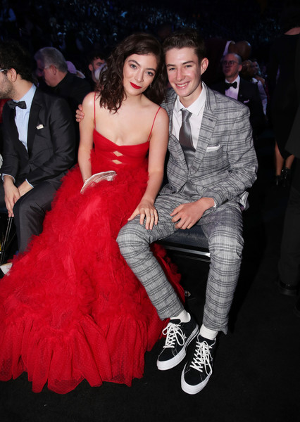 Lorde Cutout Dress [lorde,angelo yelich-oconnor,clothing,dress,red,premiere,fashion,strapless dress,event,carpet,flooring,shoulder,grammy awards - roaming show,annual grammy awards,new york city,madison square garden]