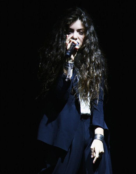 Lorde accessorized with a pair of silver cuffs while performing in Sydney.
