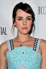 Jena Malone styled her hair into a loose bun for the Los Angeles Confidential October issue celebration.