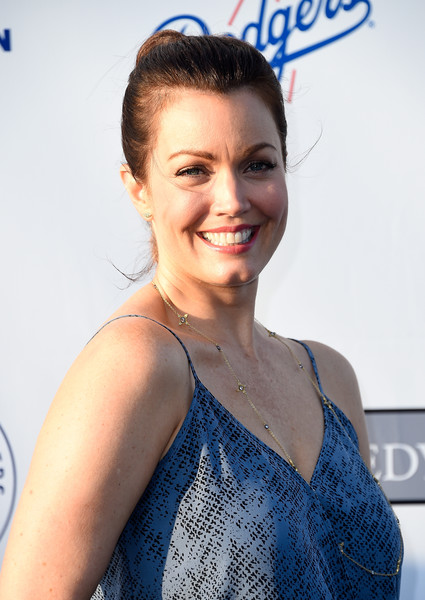 Bellamy Young opted for a simple ponytail when she attended the Blue Diamond Gala.