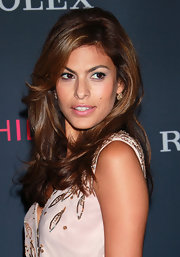 Eva Mendes showed off her shoulder length curls while hitting the Opening Night Gala.