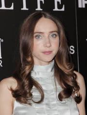 Zoe Kazan showed off perfectly sweet curls at the LA premiere of 'Wildlife.'