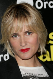 Judith Godreche sported a bob with choppy bangs at the LA premiere of 'Nasty Baby.'