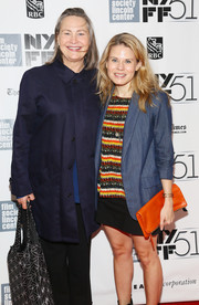 Celia Keenan-Bolger topped off her colorful ensemble with an orange leather clutch when she attended the 'All is Lost' premiere.
