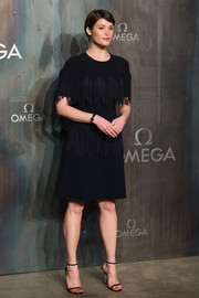 Gemma Arterton joined the Lost in Space party wearing a fringed LBD by Jenny Packham.
