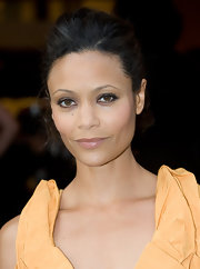 Thandie Newton paired her Louis Vuitton frock with loose ringlets.