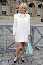 Black slingbacks topped off Naomi Watts' classic look at Paris Fashion Week.
