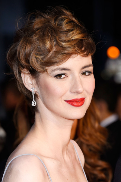 Louise Bourgoin Messy Cut [shan he gu ran,hair,face,lip,hairstyle,eyebrow,beauty,chin,brown hair,blond,shoulder,premiere,louise bourgoin,cannes,france,shan he gu ren,the 68th annual cannes film festival]