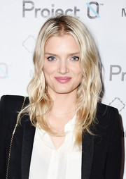 Lily Donaldson looked like Barbie with her radiant blonde waves at the Love Affair with World Oceans Day event.