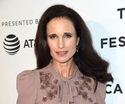 Andie MacDowell wore a high-volume hairstyle with wavy ends at the Tribeca Film Fest premiere of 'Love After Love.'