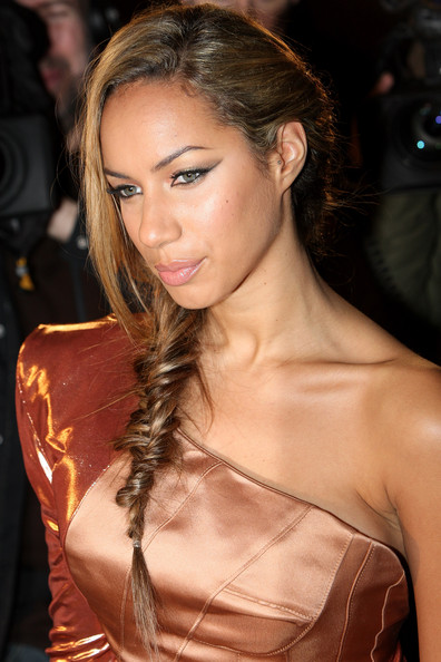More Pics of Leona Lewis Long Braided Hairstyle (4 of 12) - Long Braided Hairstyle Lookbook - StyleBistro