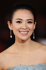 Ziyi Zhang swept a sheer, shimmery shadow across her lids along with a touch of liquid liner and black mascara at the Italian premiere of 'Love for Life.'