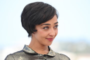 Ruth Negga looked retro with her short side-parted hairstyle at the Cannes Film Festival photocall for 'Loving.'